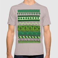 Yzor pattern 003 green Mens Fitted Tee Cinder SMALL