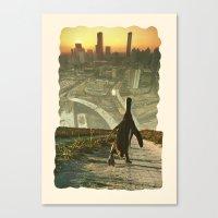 Penguin City Canvas Print