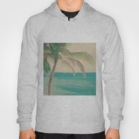 Coco Palm in the Beach  Hoody