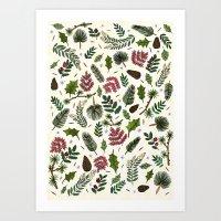 Winter Foliage  Art Print