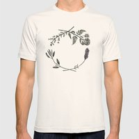 Yarrow, Sage, Lavender, Thyme Mens Fitted Tee Natural SMALL