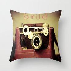 {smile} Throw Pillow