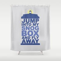 Snog Box (Tardis) Shower Curtain
