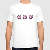 Kirbys Adventure Mens Fitted Tee White SMALL