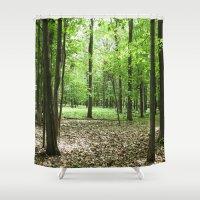 Woodland Secrets - Spring Greens Shower Curtain