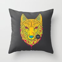 The Unbridled Anger of a Decapitated Direwolf Throw Pillow