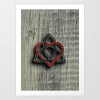Celtic Knotwork Valentin… Art Print