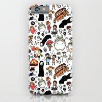 iPhone Cases featuring Kawaii Ghibli Doodle by KiraKiraDoodles