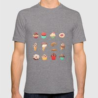Desserts Mens Fitted Tee Tri-Grey SMALL