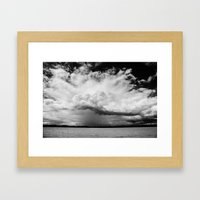 white clouds Framed Art Print