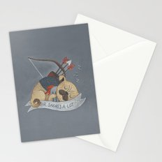 Sir Snores-A-Lot Stationery Cards