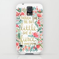 Galaxy S5 Cases featuring Little & Fierce by Cat Coquillette