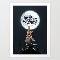 Where The Wild Things Ar… Art Print