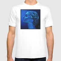 Blauw Mens Fitted Tee White SMALL