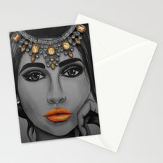 Tangerine Sky Goddess - by Ashley-Rose Standish Stationery Cards