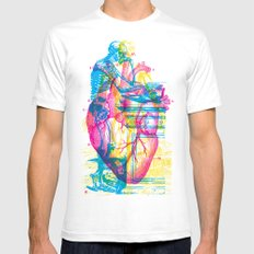 Andreae Vesalii Montage Mens Fitted Tee White SMALL