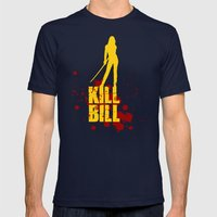 Kill Bill - Minimalist P… Mens Fitted Tee Navy SMALL