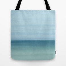 Abstract Ocean Blue and Mint Tote Bag