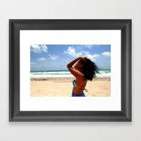 Beach Woman Framed Art Print