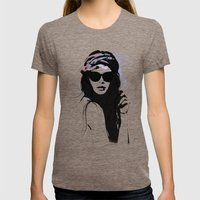 Infatuation - Digital Fa… Womens Fitted Tee Tri-Coffee SMALL