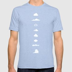 Famous Clouds Mens Fitted Tee Tri-Blue SMALL