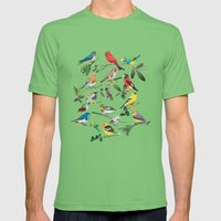 Birds Mens Fitted Tee Grass SMALL