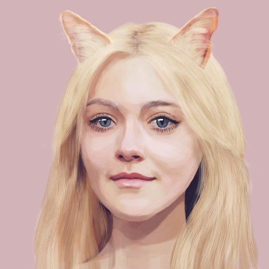 Dakota Fanning Art Print