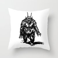 La Créature/The Creatur… Throw Pillow
