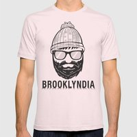 Brooklyndia 2 Mens Fitted Tee Light Pink SMALL