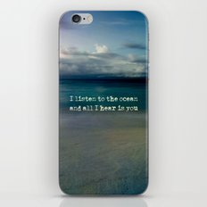 Listen to the ocean iPhone & iPod Skin