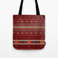Efinity Pattern Red Tote Bag