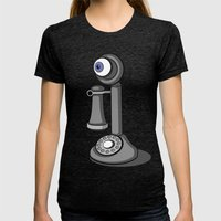EyePhone Womens Fitted Tee Tri-Black SMALL