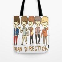 Juan Direction One Direction Cartoon Tote Bag