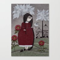 Winterbird, Or Hope Is A… Canvas Print