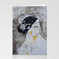 Graffiti Woman Stationery Cards