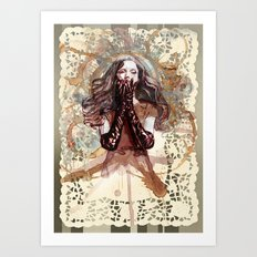 AND ALL HOPE WAS LOST Art Print