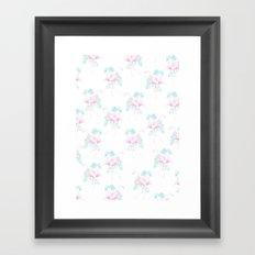 Tropical Flamingos Framed Art Print