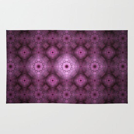 Pink Fractal Pattern Area & Throw Rug