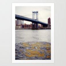 Manhattan Bridge from Afar Art Print