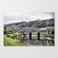 Horse and Bridge Canvas Print