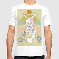 Whitetail Bones Mens Fitted Tee White SMALL