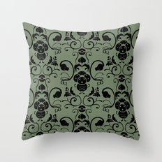 Grass Type Damask Throw Pillow