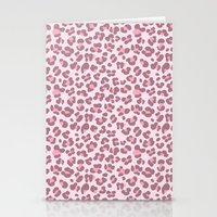 Baby pink Leopard Stationery Cards