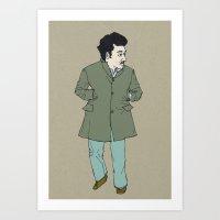 Fall, man Art Print