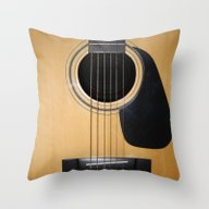 Throw Pillow featuring Guitar by Nicklas Gustafsson