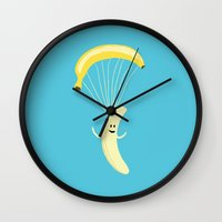 Bananachute Wall Clock