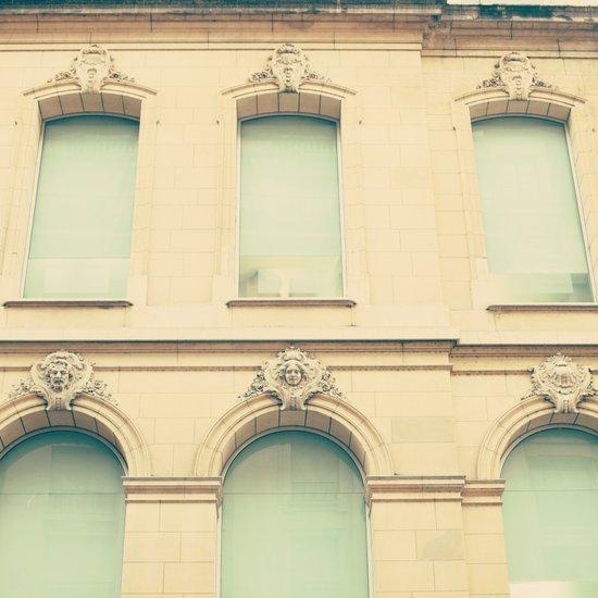Mint windows, beige walls  Art Print