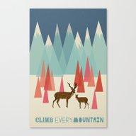 Climb Every Mountain Canvas Print