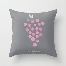 Les Raisins Throw Pillow