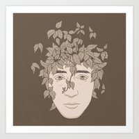 NATURE PORTRAITS 09 SIMPLIFIED Art Print